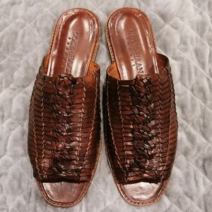 Cole Haan | Brown Leather Slide Sandals